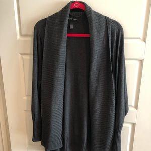 Like new INC gray ribbed collar cardigan 3x